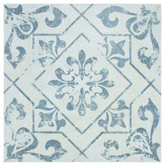 Merola Tile Lotto Cobalto 17-3/4 in. x 17-3/4 in. Ceramic Floor and Wall Tile (15.75 sq. ft. / case)-FCC18LTC at The Home Depot