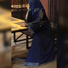 Blue abaya with stones Material : Nida Rate : 2900 Model Photographer Blue Abaya, Modern Hijab, Abayas, Hijabs, Stones, Classy, Inspirational, Hot, Model