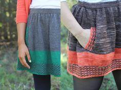 lovely knitting skirts