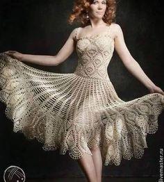 Patrón #852: Vestido a Crochet | CTejidas [Crochet y Dos Agujas]