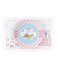 Take a look at this Pink Fairy Tale Personalized Dining Set by Farmhousefive Art for Kids on #zulily today!
