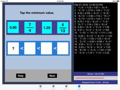 Bel Math Apps released Compare All Fractions 1.0 - New iPad Application Image