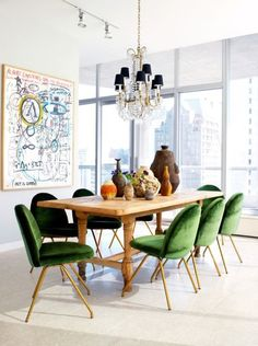 Be inspired by this perfectly eclectic dining room designed by Nate Berkus. #OTIgotthelook