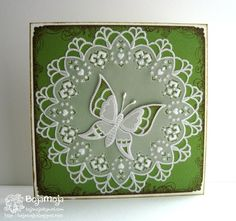 """Pergamano made from a template by Anneke Oostmeijer from the book """"Anneke's Charming Creations."""" - art by Bojamoja"""