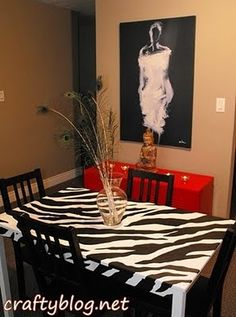 I will have this... well maybe I'll DIY but I want a red table.. and zebra chairs... yep... I will
