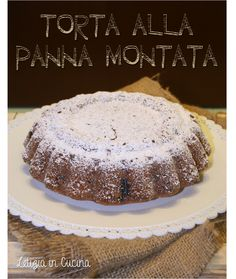 Torta quasi light alla Panna Montata - WHIPPED CREAM CAKE