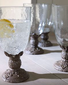 GG Collection Four Water Goblets - Horchow