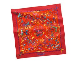 Sweep a chic Hermes scarf around your neck for an effortless way to up your style