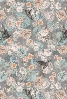 Louise Tiler- I love the illustration of the birds in this pattern and I love the blue's in the colour scheme but I think the pattern is a little too busy and it deflects some of the attention away from the illustrations she has done. I think a pattern like this would be lovely printed onto an antique peeling dressing table or bedding or curtains.