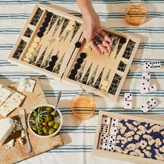 Handcrafted Wooden Backgammon & Domino Games on Interior Design Games, Latch Board, Poppy Pattern, Ginger Beer, All Craft, Baby Room Decor, Folded Up, Food 52, Own Home