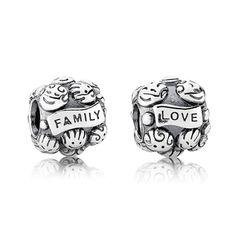 Pulseira *Vida* - Pandora - Love & Family Charm $ 45,00  http://www.pandora.net/en-us/explore/products/charms#!791039/subcat/11/theme/~60