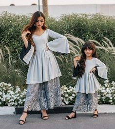 Mom Daughter Matching Outfits, Mommy Daughter Dresses, Mom And Baby Dresses, Mother Daughter Fashion, Stylish Dresses For Girls, Mom Dress, Dresses Kids Girl, Girls Dresses Sewing, Girl Outfits