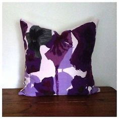 """Vintage 60s Heals Pansies By Howard Carter Purple 20"""" x 20"""" Cushion Cover"""