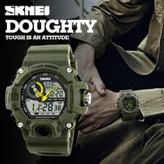 Cheap digital-watch, Buy Directly from China Suppliers:Skmei Luxury Brand Men Sports Watches S-SHOCK Men's Watch LED waterproof Quartz Military Watch relogio masculino Digital-watch Top Watches For Men, Mens Sport Watches, Casual Watches, Cool Watches, Men's Watches, Tactical Watch, S Shock, Swiss Army Watches, Military Men