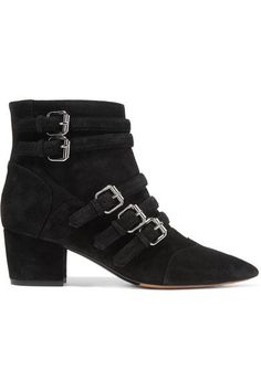 Tabitha Simmons - Christy Buckled Suede Ankle Boots - Black - IT36.5