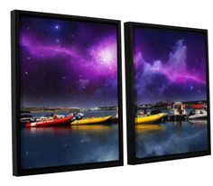 Gateway by Dragos Dumitrascu 2 Piece Floater Framed Wall Art on Canvas Set