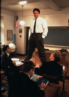 "Love this movie :]    ""So avoid using the word 'very' because it's lazy. A man is not very tired, he is exhausted. Don't use very sad, use morose. Language was invented for one reason, boys - to woo women - and, in that endeavor, laziness will not do.""  -Dead Poets Society"