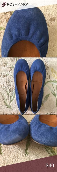 J. Crew Cece Flats, Cornflower Blue Excellent condition. I had these professionally cleaned before listing them. Sorry, no trades. J. Crew Shoes Flats & Loafers