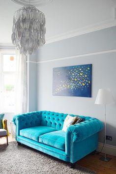 Our Gest Splurge Of The Year Chesterfield Living Roomvelvet Sofablue Velvet Sofaturquoise