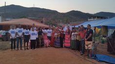 Reunião de fé no acampamento cigano, na cidade de Santana do paraíso MG.