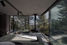 Mountain Retreat, a modern cabin by Fearon Hay. Views to Lake Wakatipu - simply amazing Exterior Design, Interior And Exterior, Interior Architecture, My House, Open House, Beautiful Homes, House Design, Design Room, Design Design