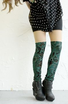 Norwegian Wood Psych Out Thigh Highs #urbanoutfitters