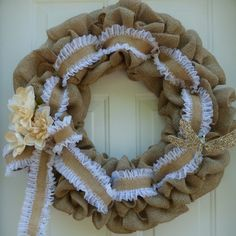 Check out Spring Door Wreaths/Summer Burlap Wreaths/Wedding Wreaths/Bridal Shower Wreaths/Bridal Shower Decorations/Burlap Wedding/Chabby Chic Wreaths on oneofakindwreath