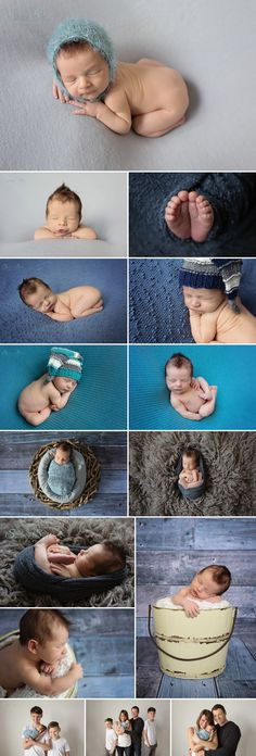 12 day old Mason and his blue themed newborn photo shoot in studio. Sunny S-H Photography