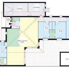 Plan maison vide - Maison de plain-pied 6
