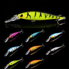 8 colors 10 cm 9.5 g Fishing Lure Minnow Hard Bait with 2 Fishing Hooks Fishing Tackle Lure 3D Eyes #jewelry, #women, #men, #hats, #watches, #belts, #fashion