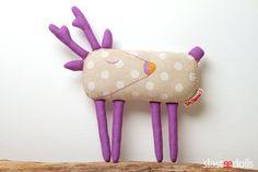 Jelen III - autorská hračka / Deer by Slastidolls Softies, Plushies, Reno, Sewing For Kids, Coin Purse, Girly, Textiles, Dolls, Crafts