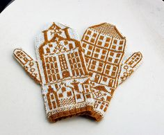 Isn't this a darling fair isle pattern for mittens (or anything)?  Mittens A Handful of Houses by osloann, via Flickr