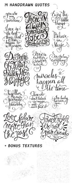26 Handdrawn Romantic Posters by Favete Art on @creativemarket