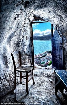 The Secret Greece is a cultural portal showcasing articles for Greece, suggesting destinations, gastronomy, history, experiences and many more. Greece in all Unique Doors, Window View, Through The Window, Greek Islands, Abandoned Places, Belle Photo, Windows And Doors, Wonders Of The World, Ramen
