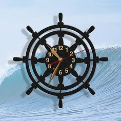 Exclusive wall clocks made of birch plywood. Perfect for a nautical nursery! Wall art decor for pla Clock Art, Diy Clock, Clock Decor, Wall Art Decor, Diy Crafts Slime, Vinyl Record Clock, Wall Watch, Nautical Nursery, Nursery Decor