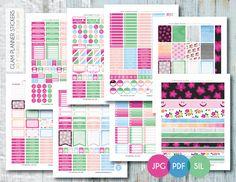 Planner - FREE Printable Floral Black, Blue, Green + Pink Massive Monthly Set