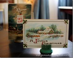Vintage Christmas post cards from the early 1900's.  virginiasweetpea.com