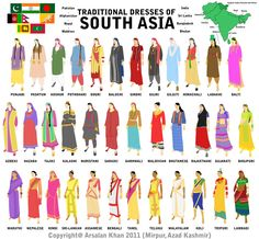 This is a fabulous guide to the traditional clothing of South East Asian women.  There are some really cool exotic looks going on here.