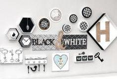 Tableau « Black & White »   #tendancedeco #homedeco #diy #ideedeco #loisirscreatifs