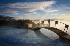 Sunrise The Blue Lagoon, Iceland Tag someone you'd love take here! #bucketlist #lifegoals #travel #beautiful