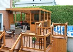 Pool Deck Plans, Patio Plans, Backyard Beach, Backyard Pool Landscaping, Best Above Ground Pool, In Ground Pools, Gazebo On Deck, Backyard Makeover, Outdoor Projects