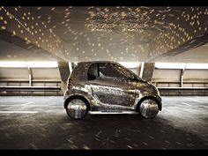 How would be to have a disco-ball on wheels in the garage?Smart Fortwo propose for fans of disco and of course the smart,the smart fortwo electric disco-ba Smart Fortwo, Electric Smart Car, Electric Cars, Electric Vehicle, Smart Auto, Mirror Ball, Car Mirror, Coldplay, Hymer