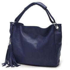 Women Vintage Tassel Leather Tote Luxury Handbag