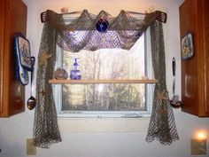 Creative Ideas for Window Treatments « Home Decoration, Improvement, Bedroom Designs, Bathroom Remodeling & Kitchen Ideas Nautical Curtains, Nautical Bathroom Decor, Coastal Decor, Coastal Living, Bathroom Window Treatments, Bathroom Windows, Home Interior Design, Interior Decorating, Decorating Ideas