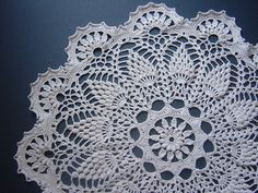 RESERVED Crocheted Doily Large Handmade Beige Ecru Home por Monicaj