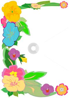 Hawaiian Clip Art Borders | cutcaster-photo-100315723-Tropical-Floral-Border.jpg