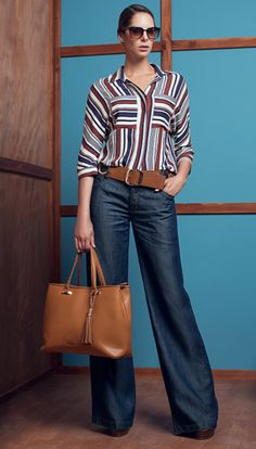 Look book Work Studio F 2016 Mode Outfits, Jean Outfits, Casual Outfits, Fashion Outfits, Womens Fashion, Fashion Trends, Casual Jeans, Fashion Wear, Work Casual