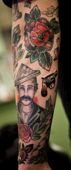 Paul Anthony Dobleman, 3 traditional mustache tattoo
