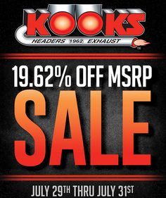 Kooks Headers 19.62% Off MSRP Sale Through July 31, 2016: In honor and remembrance of Papa Kook, Kooks isofferinga… #Blog #Special_Deals