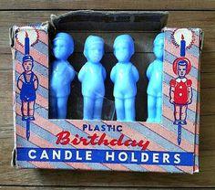 Plastic boy candle holder cake picks